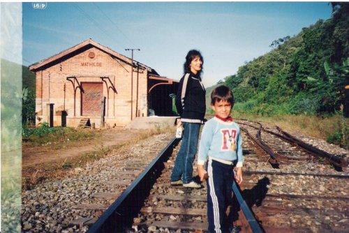 Estação de Matilde, provavelmente anos 1990. Foto Sebastião Faria ...