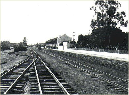 A estação em 10/1979. Foto José H. Bellorio